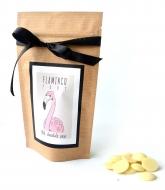 Каллеты белого шоколада с Лого на Крафтовом пакете, 135 грамм