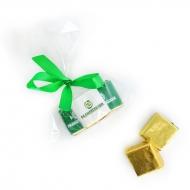 Пакетик с бантиком 3 конфеты с Лого по 15 грамм