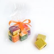 Пакетик с бантиком 10 конфет с Лого по 15 грамм