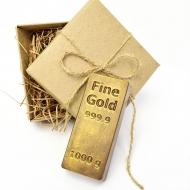 Шоколадный Слиток золота 8,5 х 5,5 х 2 см (132)