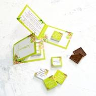 Мини-приглашение с мини шоколадкой