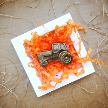 Шоколадный Трактор 6х4х1см 2шт в наборе (029)