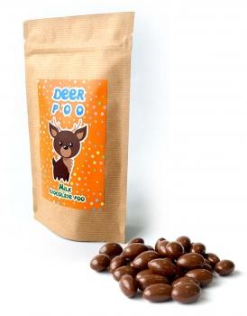 Арахис в молочной шоко глазури с Лого на Крафтовом пакете, 135 грамм