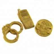 Наручники, Рация, Значок из шоколада подарок полицейскому (037)