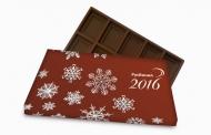 Шоколад 27 гр с логотипом компании