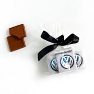 Пакетик с бантиком 10 шоко с Лого по 5 грамм