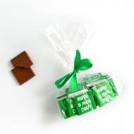 Пакетик с бантиком 15 шоко с Лого по 5 грамм