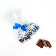 Пакетик с бантиком 30 шоко с Лого по 5 грамм