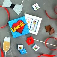 Набор шоколадок по 5 грамм «Love is»