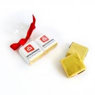 Пакетик с бантиком 2 конфеты с Лого по 15 грамм