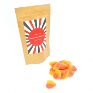Мармеладные сердечки с Лого на Крафтовом пакете, 135 грамм