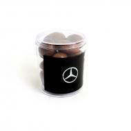 Грецкий орех в молочной шоко глазури с Лого на прозрачной мини Баночке, 103 грамма
