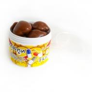 Грецкий орех в молочной шоко глазури с Лого на плоской Баночке, 49 грамм