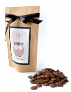 Каллеты тёмного шоколада с Лого на Крафтовом пакете, 135 грамм