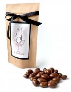 Миндаль в молочной шоко глазури с Лого на Крафтовом пакете, 135 грамм