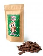 Каллеты молочного шоколада с Лого на Крафтовом пакете, 135 грамм