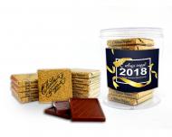 Новогодний набор 10 шоколадок по 5 грамм в баночке