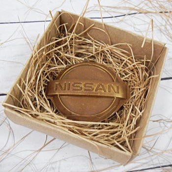 Шоколадный Логотип Nissan 7,5х6,5х0,5см (123)