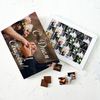 Набор с фото 24 шоколадки по 5 грамм