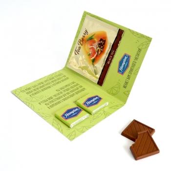 Открытка с Лого 2 шоко + чай