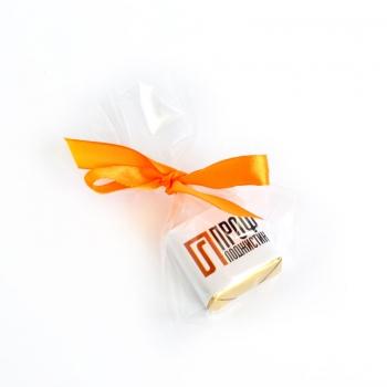 Пакетик с бантиком 1 конфета с Лого 15 грамм