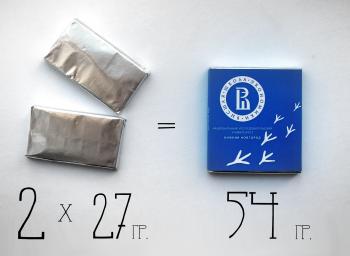 Шоколад 54 гр с логотипом компании