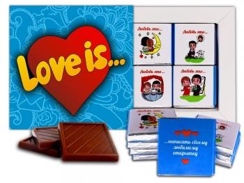 Love is шоколадный набор (м054)