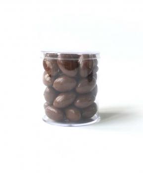 Арахис в молочной шоко глазури с Лого на прозрачной мини Баночке, 100 грамм