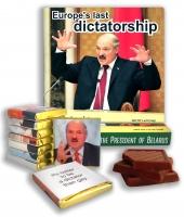 Шоколад с фотографиями и цитатами Лукашенко